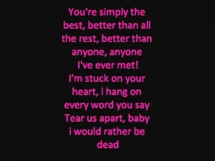 simply the best by Tina Turner Lyrics onscreen
