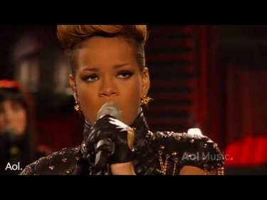 Rihanna- Rihanna Russian roulette  AOL Session 2010 HQ  Live