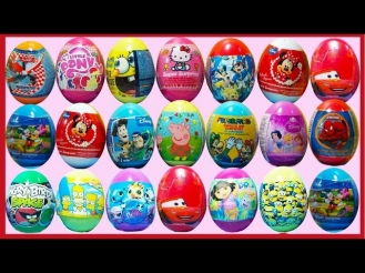 80 Surprise Eggs - Kinder surprise,peppa pig in inglish,сюрприз яйца,ovos surpresa