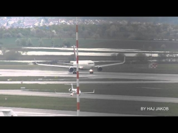 Delta Airlines Boeing 767-300WL take of Stuttgart Airport