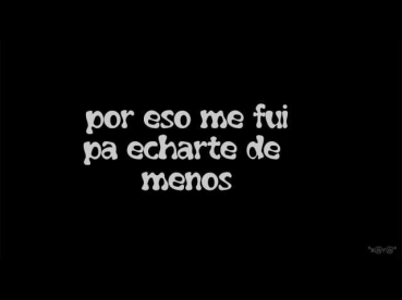 Bebe - Me Fui (with lyrics-letra)