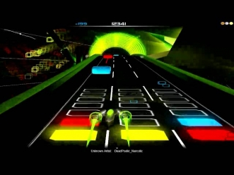 Audiosurf Gameplay [Dead Poetic - Narcotic]
