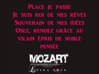 Place je passe - Mozart L'opéra rock / Paroles